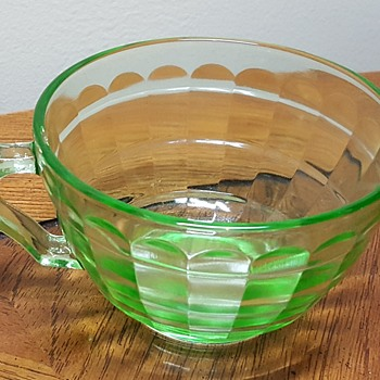 Uranium Glass Coffee Cup