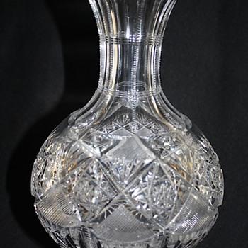 """Signed """"Hoare"""" American Brilliant Cut Glass Water Carafe 1900 - Glassware"""