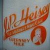J.P. HEISEY GUERNSEY MILK...NORMAL VIEW DAIRY...MILLERSVILLE PENNSYLVANIA...BABY TOP MILK BOTTLE