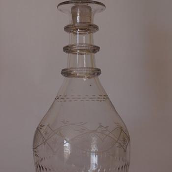 A Cork Glass Co. Irish Decanter