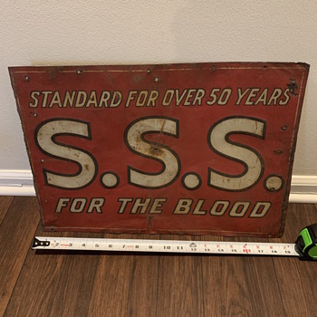 SSS For The Blood Sign - Advertising
