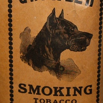 GROWLER SMOKING TOBACCO  1920s PACK, LIGGETT & MYERS TOBACCO CO - Tobacciana