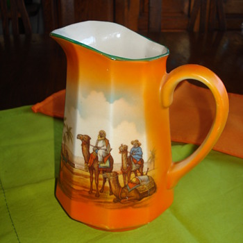 PITCHER MIDDLE-EAST DESERT SCENE  - China and Dinnerware