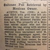 1933 Mexican Forgot Suitcase Full Of Gold