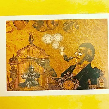 Vintage Steampunk Postcard - Postcards