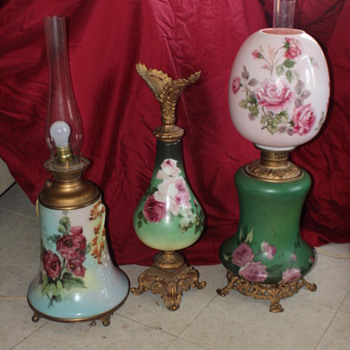Gone with the Wind Lamps & Ewer - Lamps
