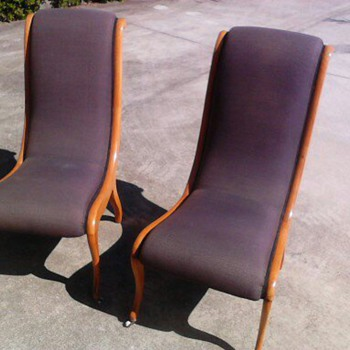Scandinavian swedish 1920's salon chairs - Furniture