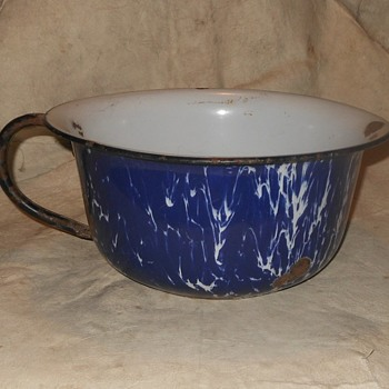 Don't Drink Out of This Antique Graniteware Thundermug - Kitchen