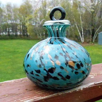 Art Glass Decanter/Vase - Art Glass