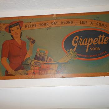 Grapette Girl shopping