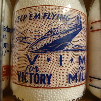 Four Sanitary Dairy (Warren Ohio) Airplane Slogans............. - Bottles