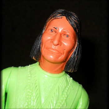 BEST OF THE WEST  ( LIME GREEN ) Geronimo - MARX TOYS (( For Fortapache )) - Toys