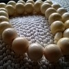Vegetable Ivory/Tagua Nut Bead Necklace, Thrift Shop Find 1 Euro ($1.07)