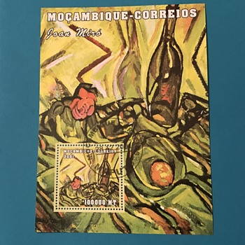 Mocambique-Correios Joan Miro Souvenir Stamp Sheet - Stamps