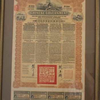chinese reorganization gold loan plaque framed - Asian