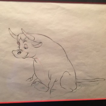 """Ferdinand the Bull"" Animation Drawing - 1938"