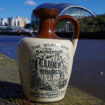 MACPHERSON'S CLUNY WHISKY JUG/CROCK NEWCASTLE - Bottles