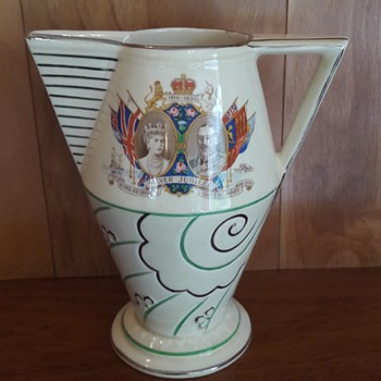 Royal Jubilee Art deco Jug 1930s - Art Deco