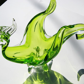 Canadian art glass figural bird/bowl - Art Glass