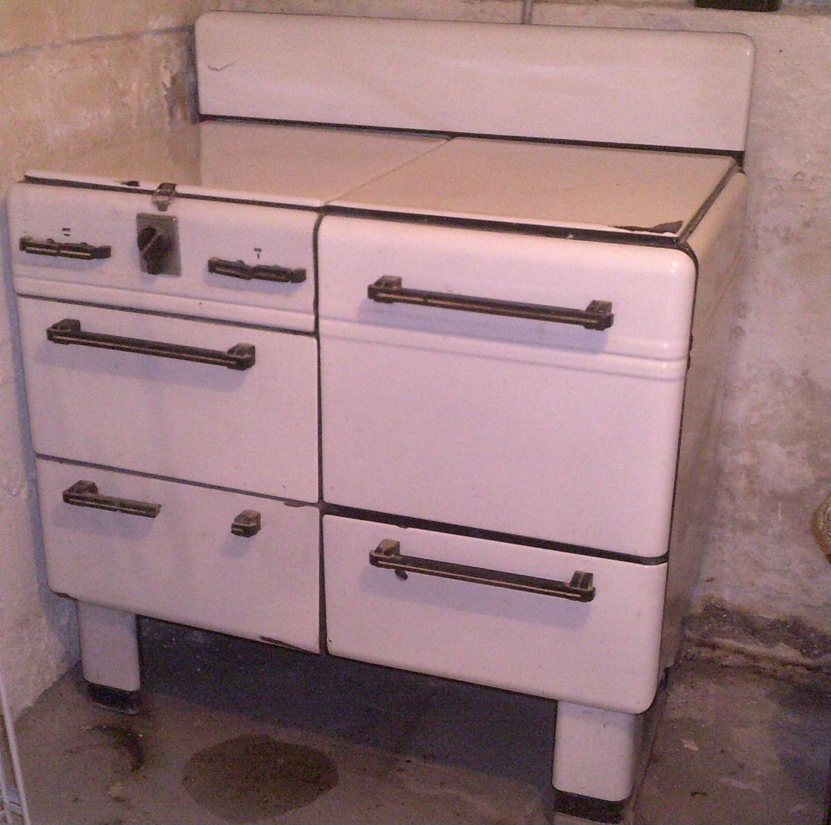Sears, Roebuck and Co. Prosperity 4 burner gas range - Art Deco ...