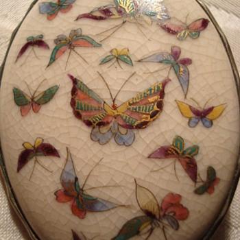 Possible Satsuma Meiji Period Pin - Fine Jewelry