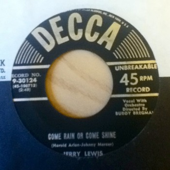 Jerry Lewis 45 Record - Records