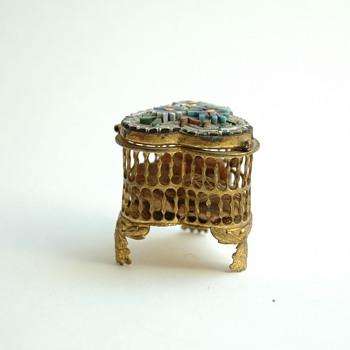 antique  venetian micromosaic jewelry box  - Fine Jewelry