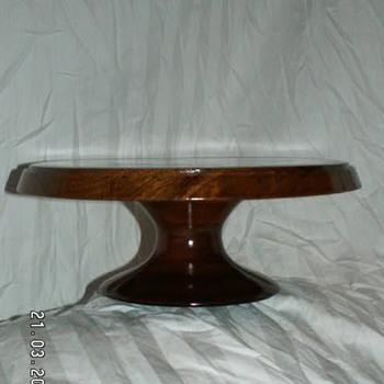 Vintage Solid Walnut Pedestal/Cake Stand - Kitchen