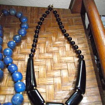 Black Lucite Necklace