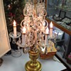 Antique Unmarked Glass bead Table Chandelier