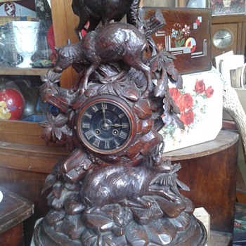 blackforest antique clock - Clocks