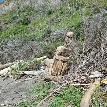 Old Wooden statue  - Fine Art