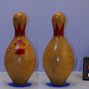 Brunswick Red Crown Duckpin, Natural Finish - Sporting Goods