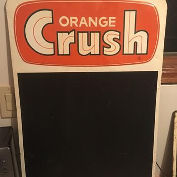 Orange Crush Menu Board Sign