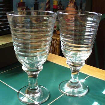 Manhattan Depression Glass Stems - Glassware