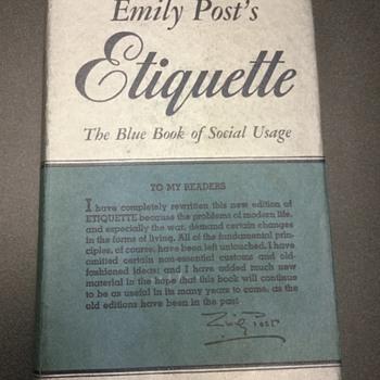 Vintage Etiquette  — Emily!  - Books