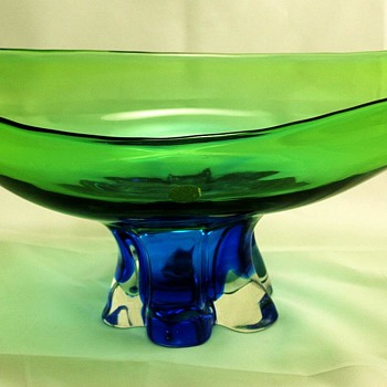 Console Bowl by Archimede Seguso and Original label - Art Glass