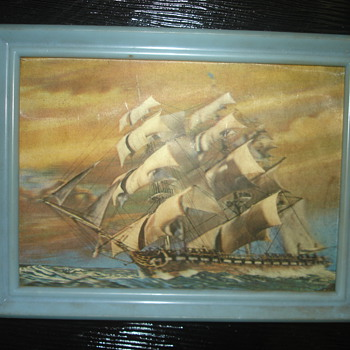 3D POSTCARD OF A SHIP MADE IN WONDER CO., TOYKO JAPAN - Postcards