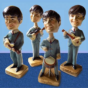 "Beatles 1964 Composition 8"" Nodders / Car Mascots - Music Memorabilia"