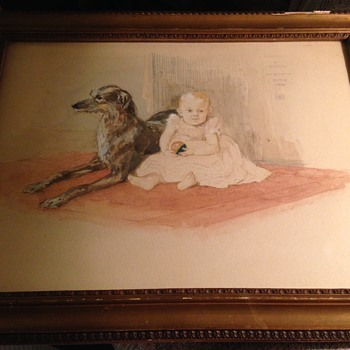 1880 drawing? Michael and Bessie - Fine Art