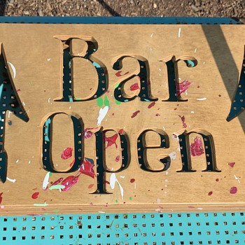 What is this sign?  Bar Open - Signs