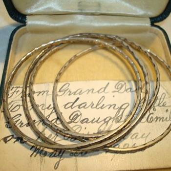 Victorian/Edwardian Sterling Baby Bangles - Fine Jewelry