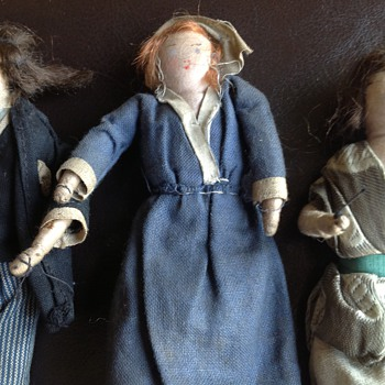 More pictures of antique dolls' house dolls - Dolls