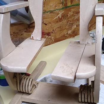 Child rocking chair found in disrepair in a storage unit.  restored to as original as I could - Folk Art