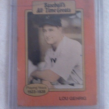 Baseballs All-Time greats/Lou Gehrig Card