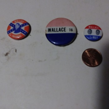 Some HTF George Wallace pinbacks - Politics
