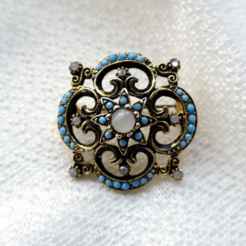 Czech brooch - Costume Jewelry