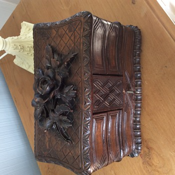 Beautiful Antique carved Jewellery box