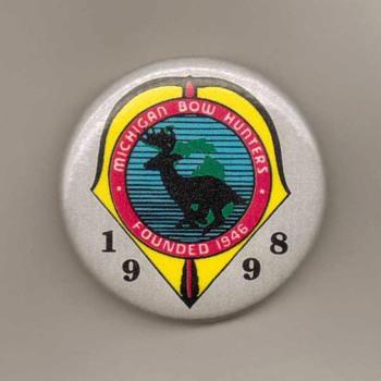 1998 - Michigan Bow Hunters Assoc. Pinback