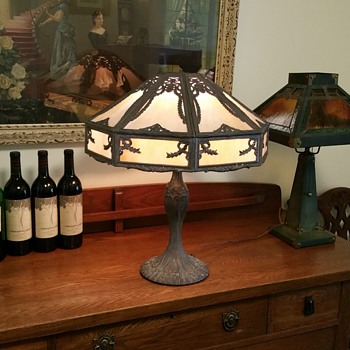 slag glass lamp - Lamps
